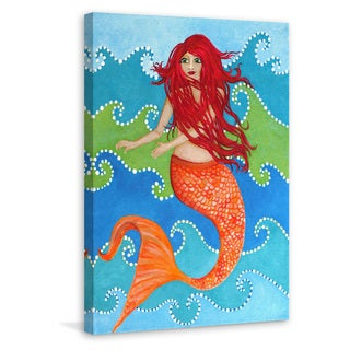 Marmont Hill - 'Dancing Mermaid' by Nicola Joyner Painting Print on Wrapped Canvas
