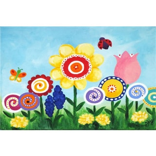 Marmont Hill - 'Flower Garden' by Nicola Joyner Painting Print on Wrapped Canvas