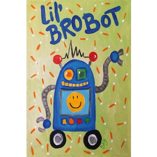 Marmont Hill - 'Lil Brobot' by Nicola Joyner Painting Print on Wrapped Canvas