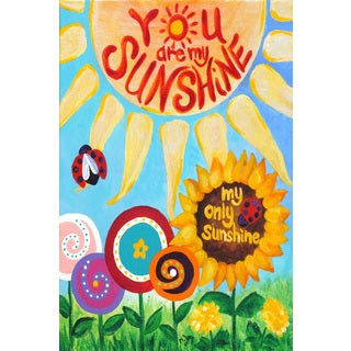 Marmont Hill - 'My Only Sunshine' by Nicola Joyner Painting Print on Wrapped Canvas