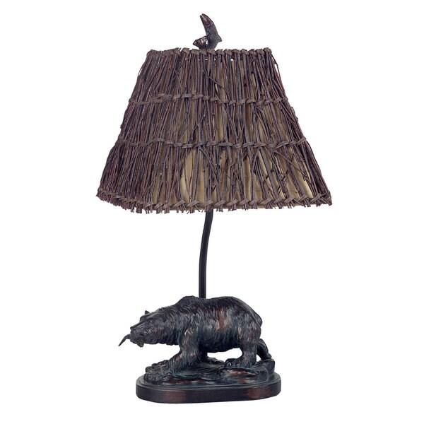 Brown Resin Bear Accent Lamp