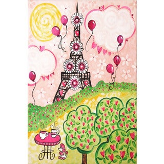 Marmont Hill - 'Paris in Pink' by Nicola Joyner Painting Print on Wrapped Canvas