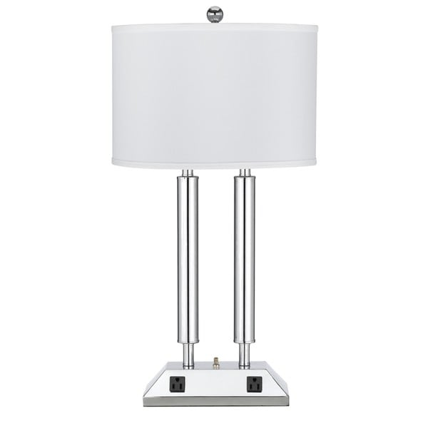 2 60-watt Light 2-outlet 2-rocker switch Table Lamp