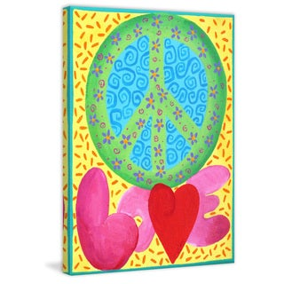 Marmont Hill - 'Peace Love' by Nicola Joyner Painting Print on Wrapped Canvas
