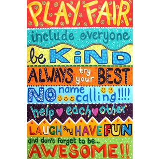 Marmont Hill - 'Playroom Rules II' by Nicola Joyner Painting Print on Wrapped Canvas