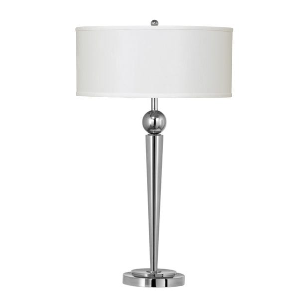 60-watt 2-light Metal Table Lamp with 2 Outlets