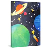 Marmont Hill - 'Planet Colors' by Nicola Joyner Painting Print on Wrapped Canvas
