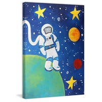 Marmont Hill - 'Space Man' by Nicola Joyner Painting Print on Wrapped Canvas - Multi-color
