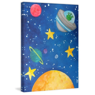 Marmont Hill - 'Three-eyed Alien' by Nicola Joyner Painting Print on Wrapped Canvas