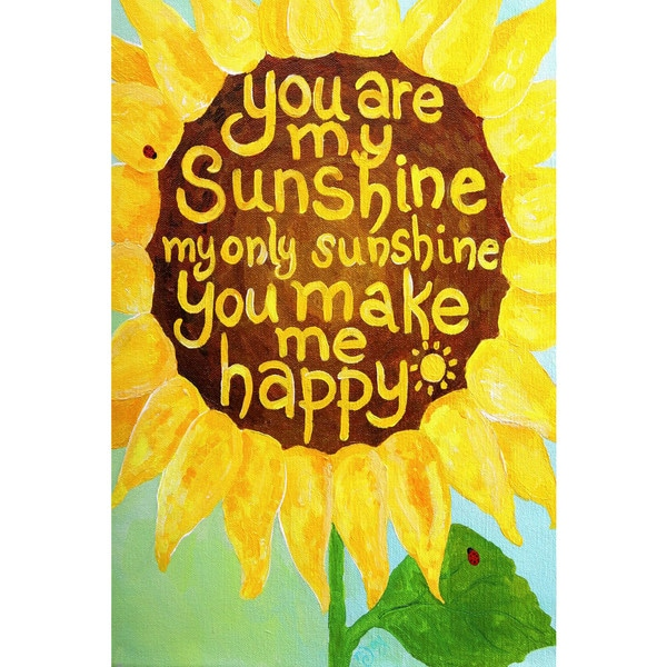 Marmont Hill - 'Sunshine Sunflower II' by Nicola Joyner Painting Print on Wrapped Canvas - Multi-color