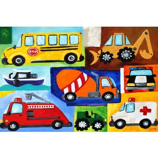 Marmont Hill - 'Modes of Transport' by Nicola Joyner Painting Print on Wrapped Canvas - Multi-color