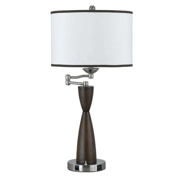 100-watt 1-outlet Table Lamp with Rocker Switch