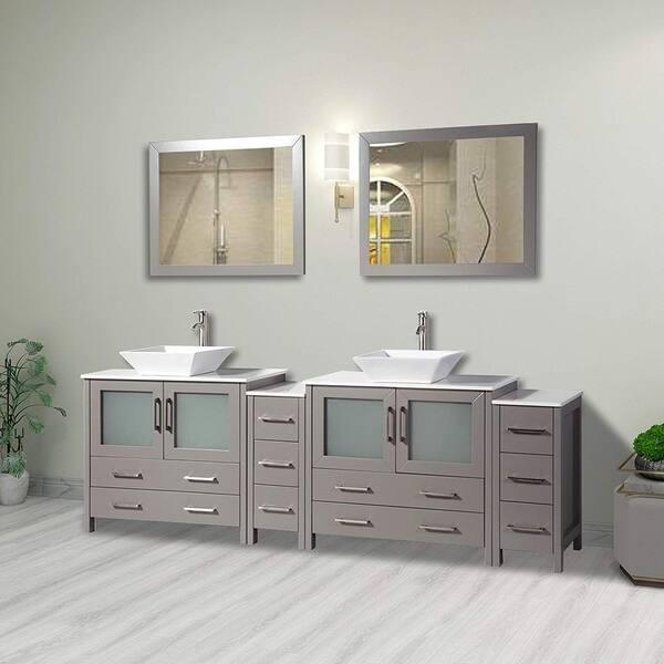 Vanity Art 96 Inch Double Sink