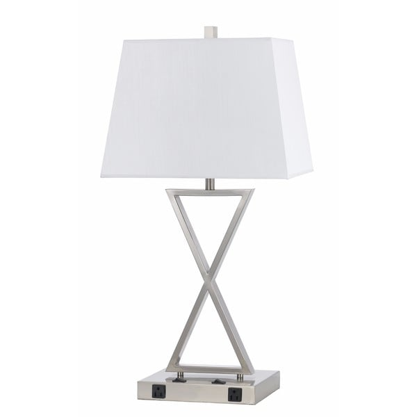 60-watt 2-light Metal Lamp With 2 Outlets