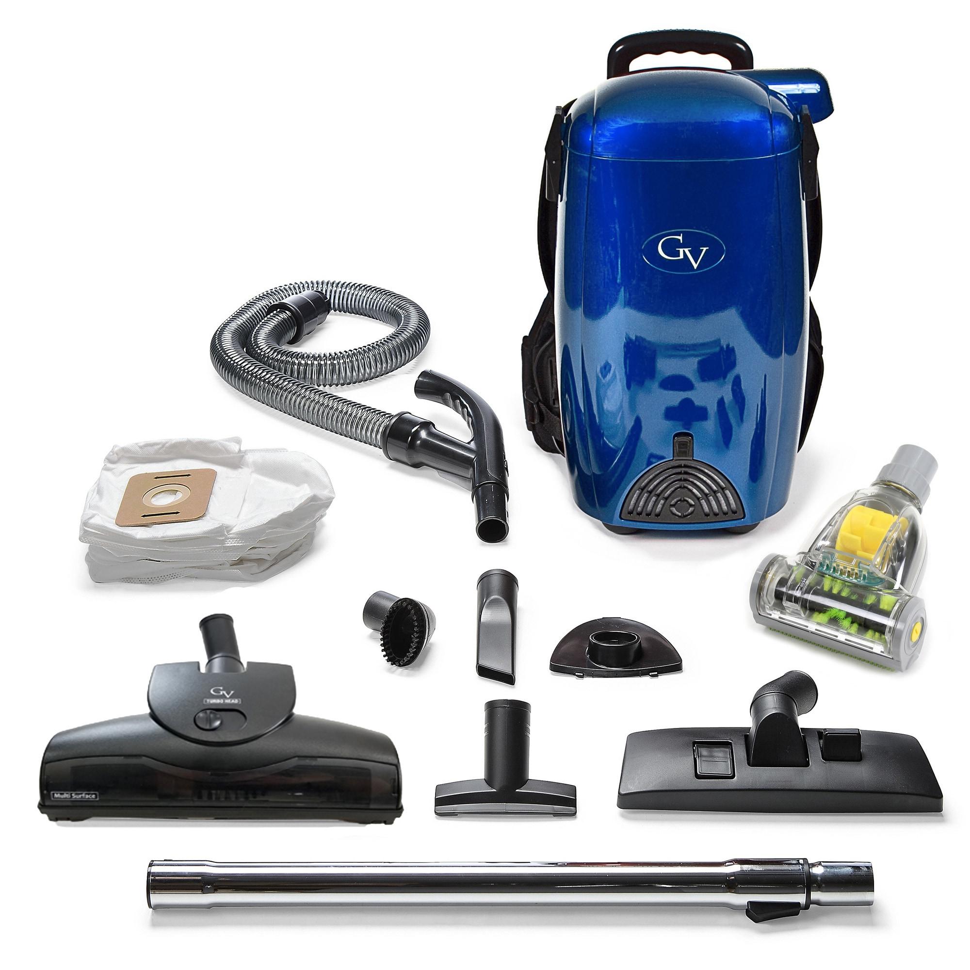 Blue GV 8 Quart Hepa Backpack Vacuum (Blue)
