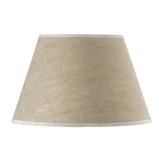 Traditional-style Off-white Linen Round Shade
