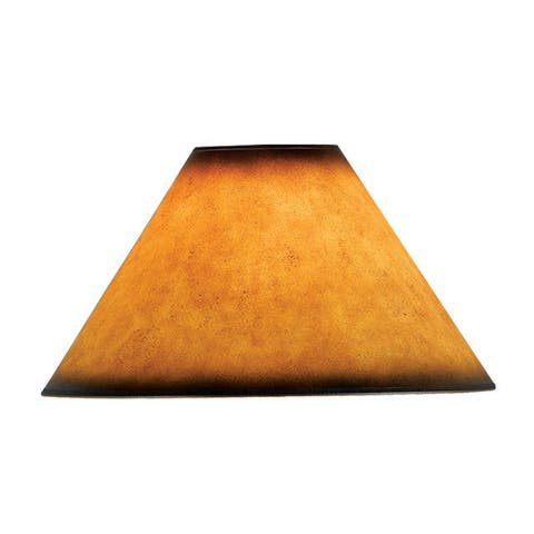 Amber Faux-leather Lampshade