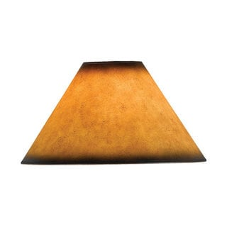 Mission-style Orange Leatherette Lampshade