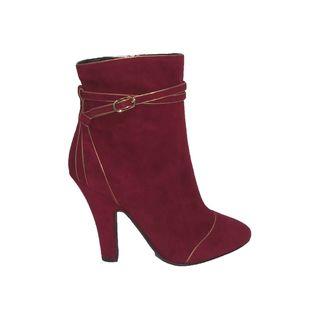 Dolce & Gabbana Women's Burgundy Suede Short Boots