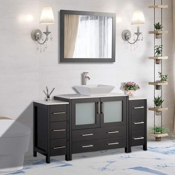Shop Vanity Art 60-Inch Single Sink Bathroom Vanity Set 8 ...