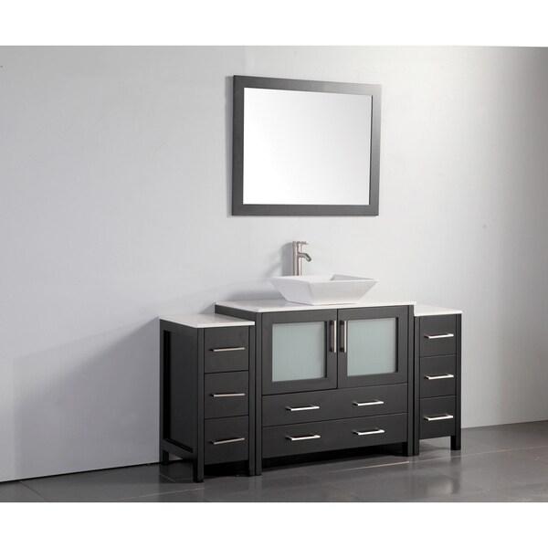 65 Inch Bathroom Vanity Single Sink: Shop Vanity Art 60 Inch Single Sink Bathroom Vanity Set