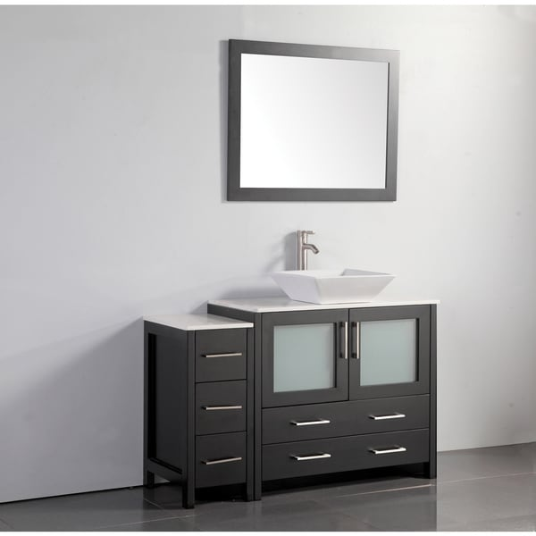Shop Vanity Art 48 Inch Single Sink Bathroom Vanity Set With Ceramic Top On Sale Free