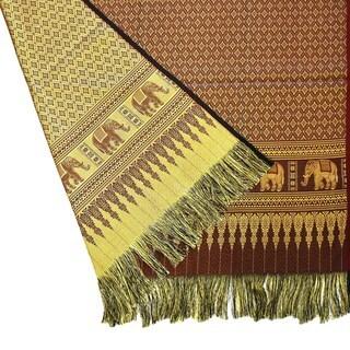 Thai Golden Elephant Rectangle Table Cloth (Thailand)