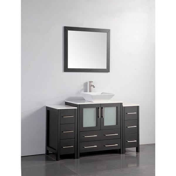 Shop Vanity Art 54 Inch Single Quartz Sink Bathroom Vanity