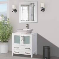 Vanity Art 30 Inch Single Sink Bathroom Vanity Set With Ceramic Top