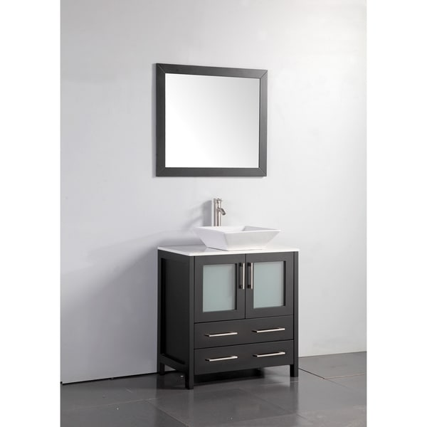 Vanity Art 30 Inch Single Sink Bathroom Vanity Set With ...