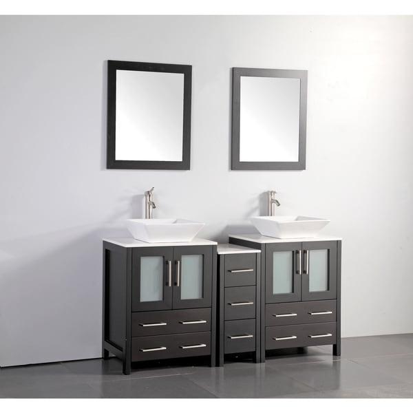 Shop Vanity Art 60 Inch Double Sink Bathroom Vanity Set ...