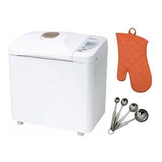 Panasonic Automatic Bread Maker w/ Measuring Spoon Set & Oven Mitt|https://ak1.ostkcdn.com/images/products/13681648/P20345894.jpg?impolicy=medium