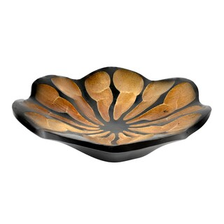 Handmade Blossom Lotus Mango Wood Plate or Tray (Thailand)