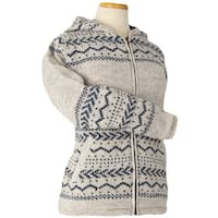 Women's Laundromat Laila Brown and Beige Wool Sweater