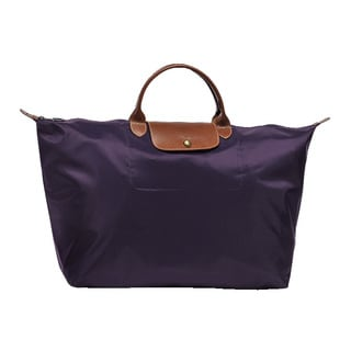 Longchamp Le Pliage Navy Blue Nylon Large Bilberry Travel Bag