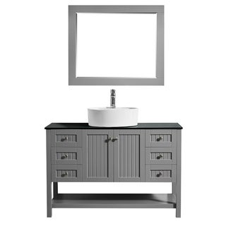 Modena 48-inch Grey Vanity Set
