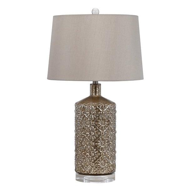 Glass/Crystal 150-watt Table Lamp