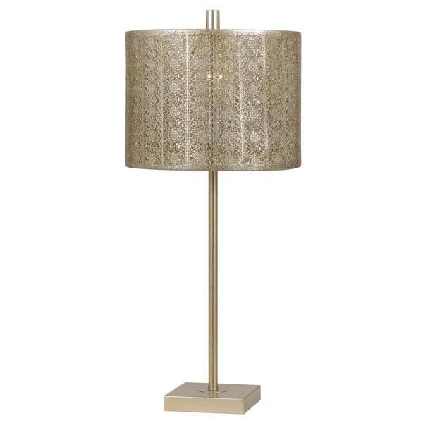 Falfurrias Goldtone Filigrie 100-watt Table Lamp