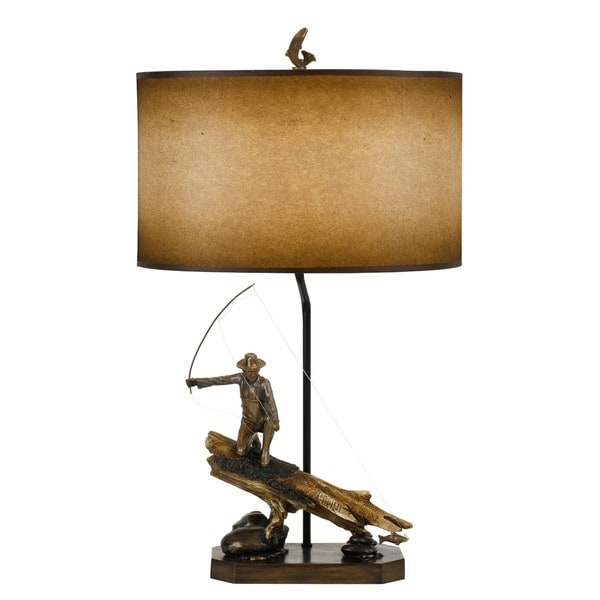 Fisherman Tan/Brown Resin Table Lamp
