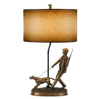 Hunter Bronze Resin 150-watt Table Lamp