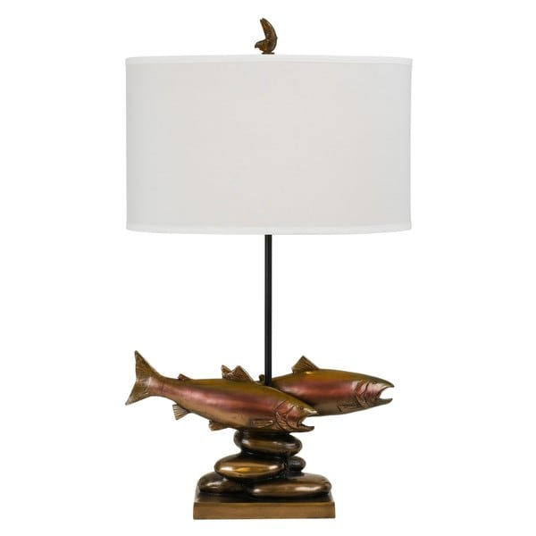 150-watt Trout Resin Table Lamp