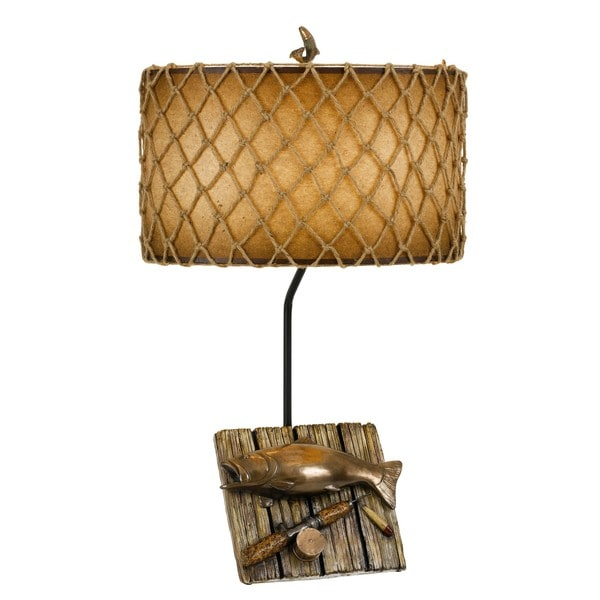 150-watt Fishing Resin Table Lamp