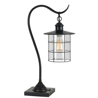 Bronze Metal Silverton Lantern Desk Lamp