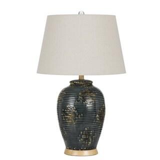 Saguaro 15-watt Off-white Shade Ceramic Table Lamp