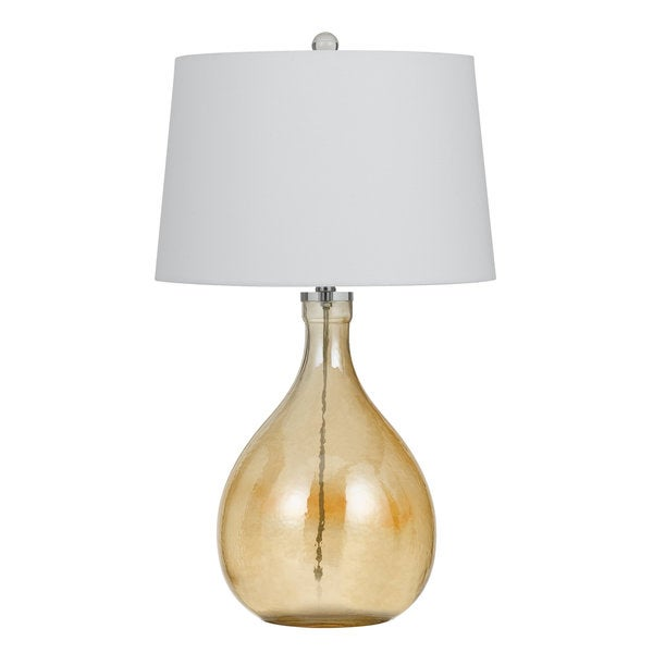 Perryton Yellow/Off-white Glass Table Lamp