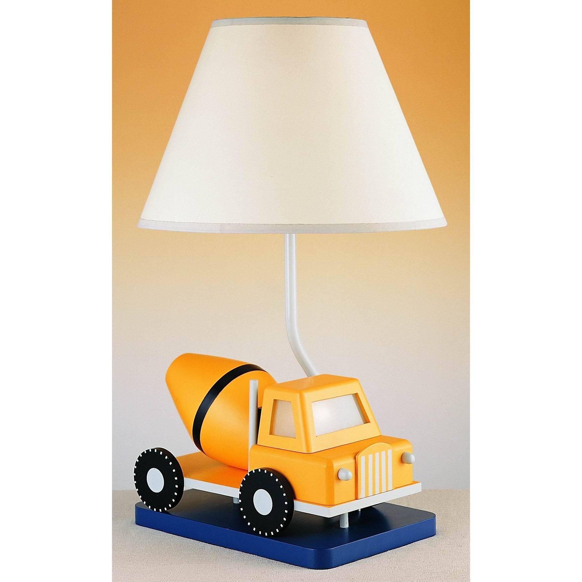 Cement Truck Resin Night Light Lamp (Table Lamp), Beige O...