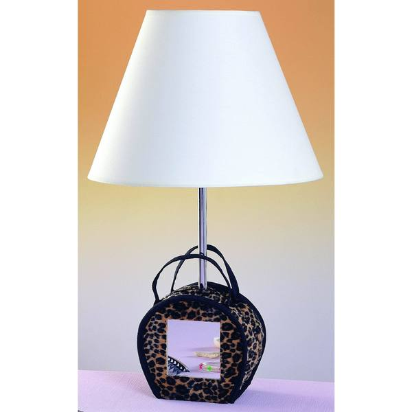 Multicolor Resin Mirrored Purse Table Lamp