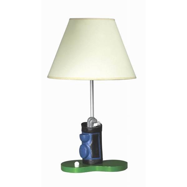 Green Resin Golf Table Lamp