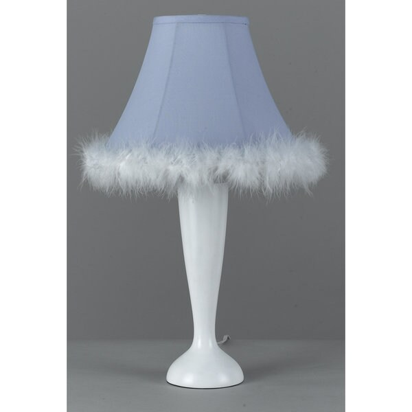 Blue Resin Maid Table Lamp