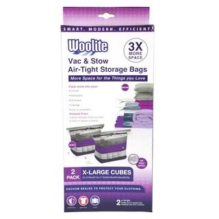 Woolite White Nylon 2-piece Airtight Jumbo Cube Vacuum Storage Bags